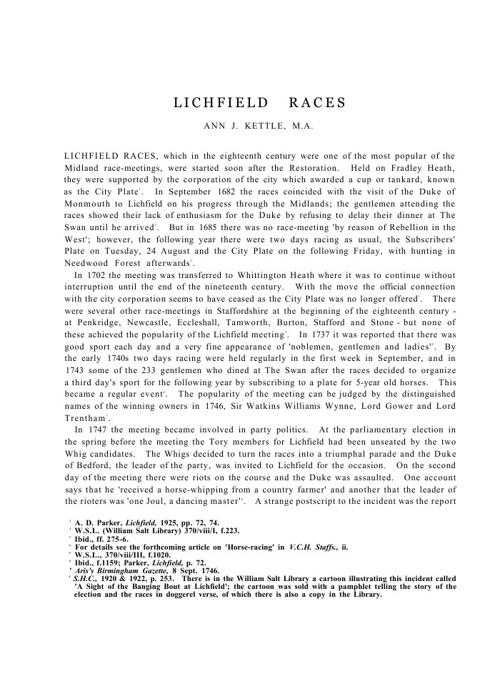 Lichfield Races