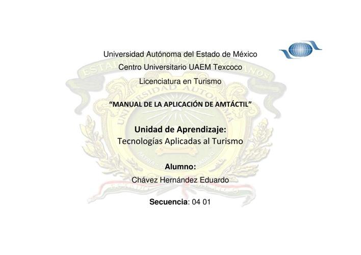 """""""MANUAL DE LA APLICACIÓN DE AMTÁCTIL"""""""