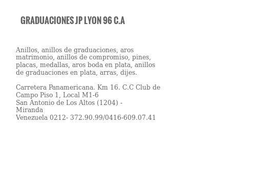 GRADUACIONES JP LYON 96 C.A
