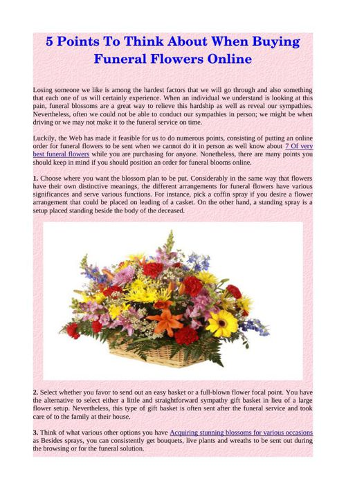 5 Points To Think About When Buying Funeral Flowers Online