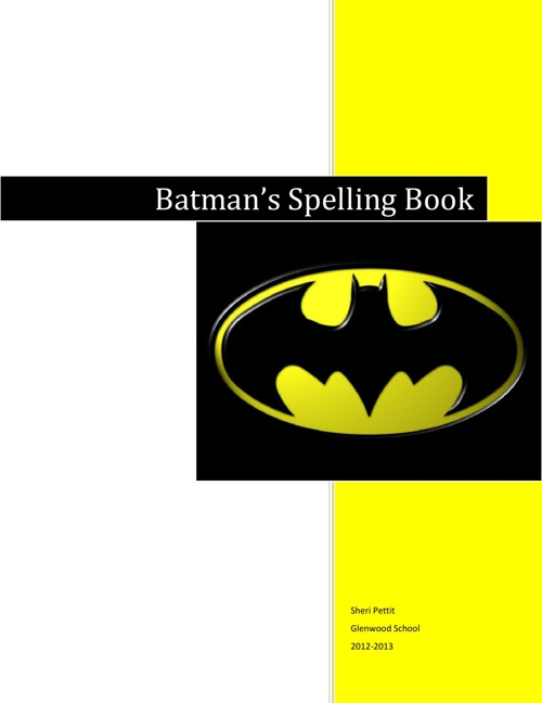 Batman Spelling Book #1