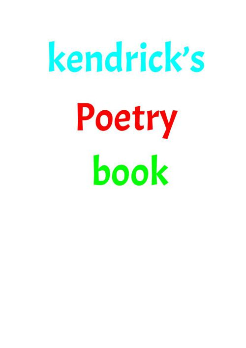 KendricksPoetryBook