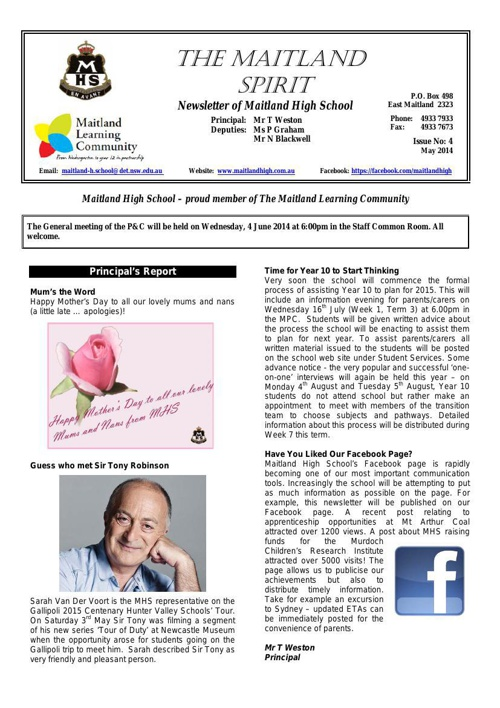 MHS_May_2014_Newsletter