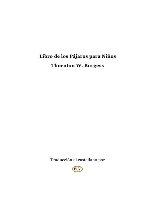 Libro de los Pájaros para Niños de Burgess