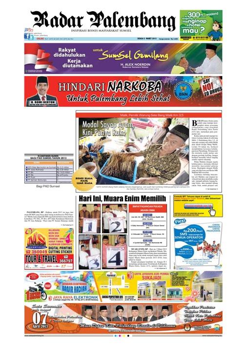 Radar Palembang Edisi 05-03-2013 Koran 1