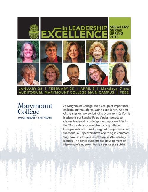 Excellence In Leadership Series Spring 2013