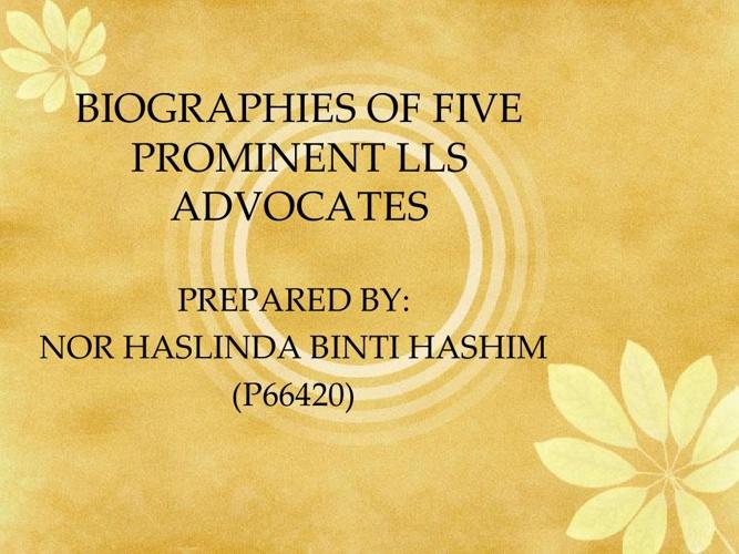 5 Prominent LLS Advocates