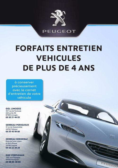 Peugeot - Forfaits Entretien Véhicules de plus de 4 ans