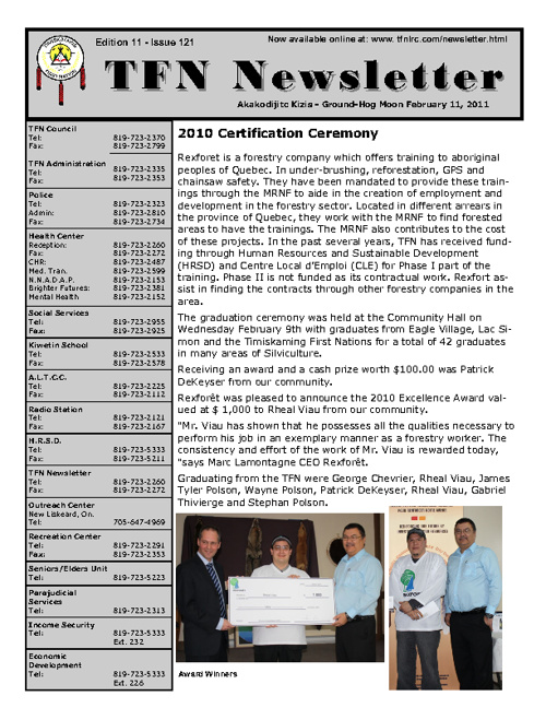 TFN Newsletter - February 11, 2011
