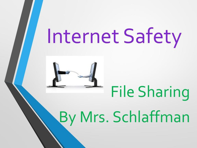 Internet Safety flip book - file sharing 2