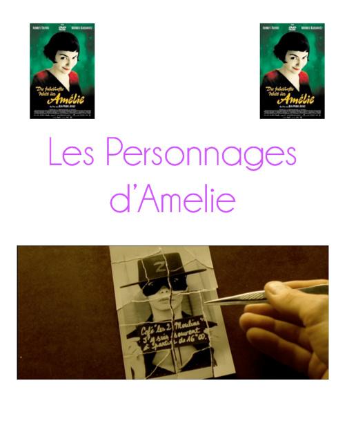Les Personnages d'Amelie