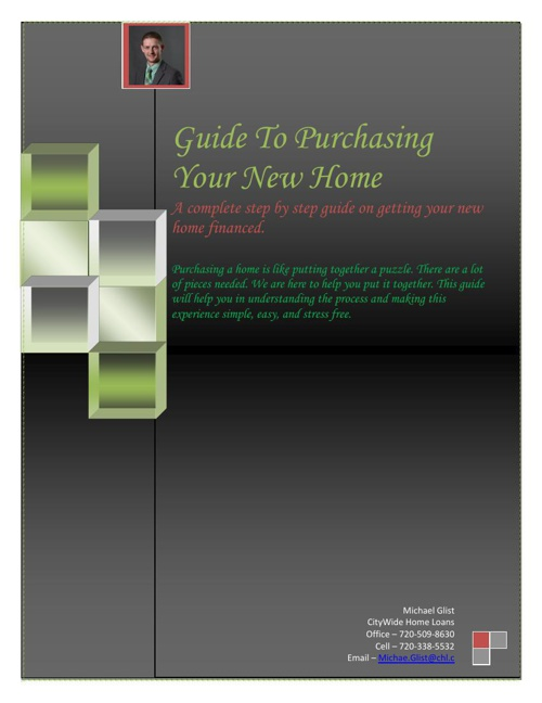 Guide To Financing Your New Home