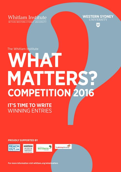 What Matters? 2016 Winning Entries Booklet