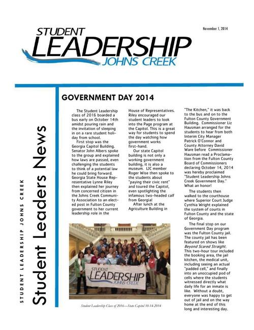 November 1 newsletter