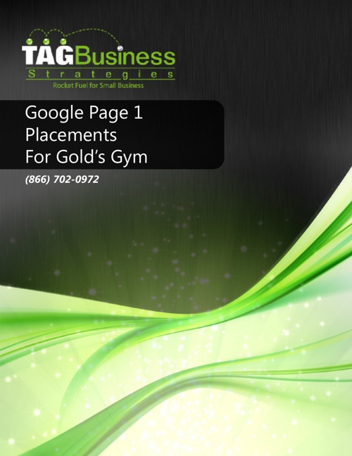 Copy of Gold's Gym Page 1