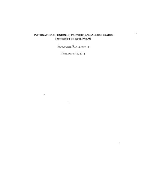 IUPAT DC 91 2011 Audited Financial Statements