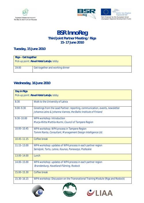 JPM Riga programme