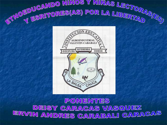 Valentín Carabalí - Ponencia