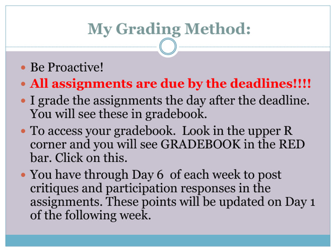 Copy of My Grading Method/  Repost and Revision Policy