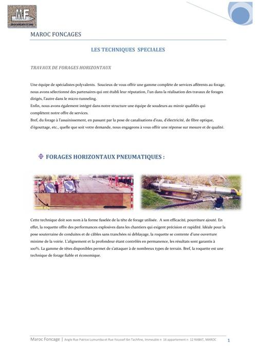 Maroc Foncage Brochure