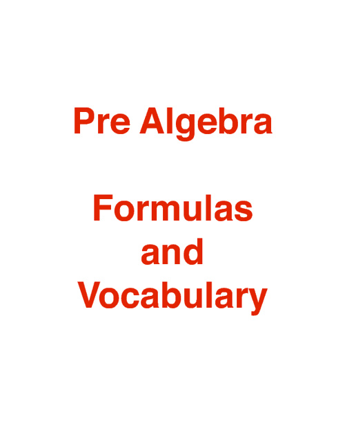 PreAlgebra Review