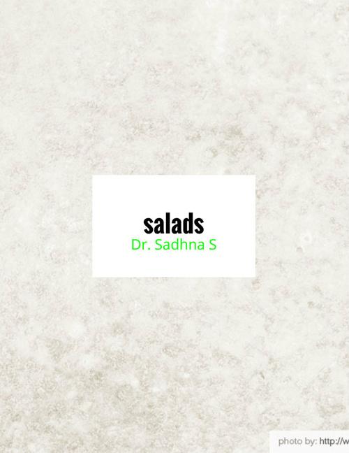 salads notes