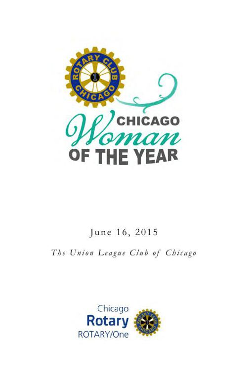Chicago Woman of the Year 2015