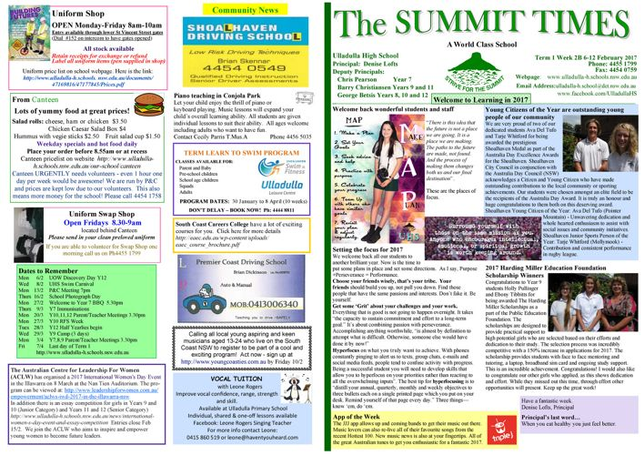 Week 2B T1 Summit Times 2017