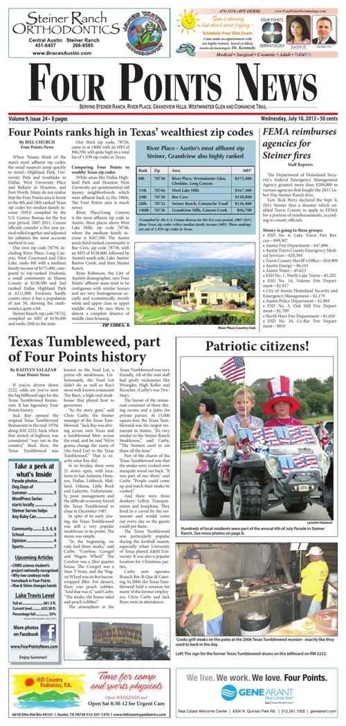 Four Points News July 10 2013 Issue