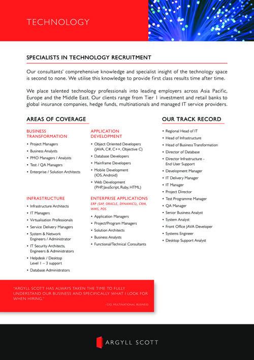 Argyll Scott - APAC Technology