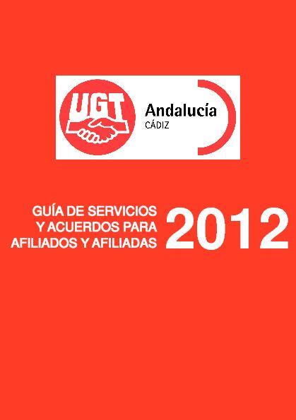Servicios 2012-2013 UGT Cádiz