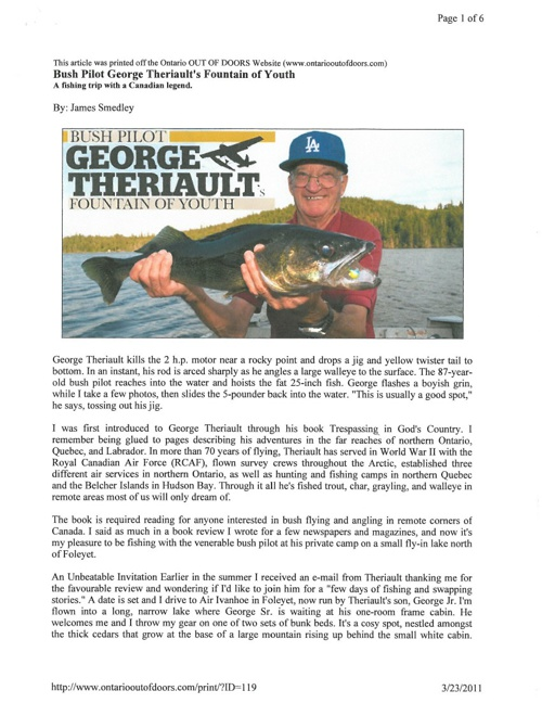 "George Theriault ""Fountain of Youth"" article"