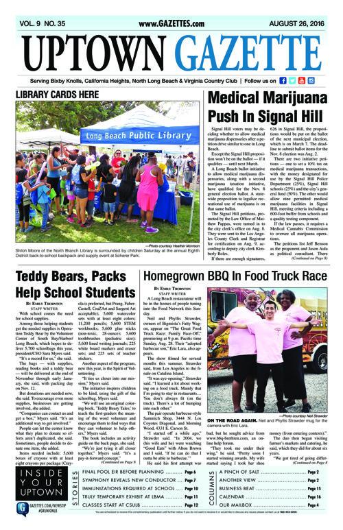 Uptown Gazette     August 26, 2016