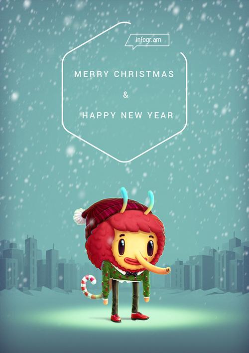Christmas card for Infogr.am Ambassadors