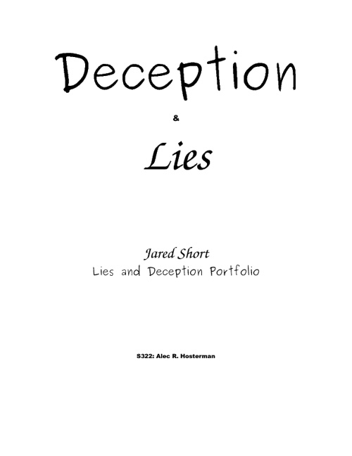 Lies and Deception Portfolio