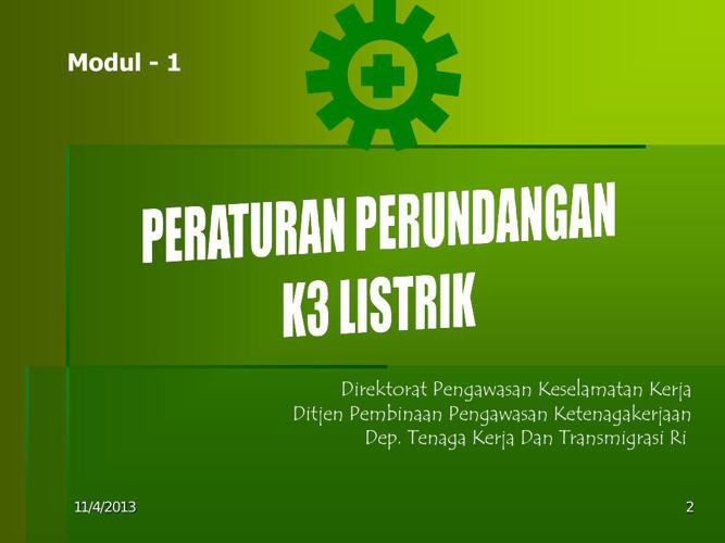 Copy of dasar hukum k3 Listrik
