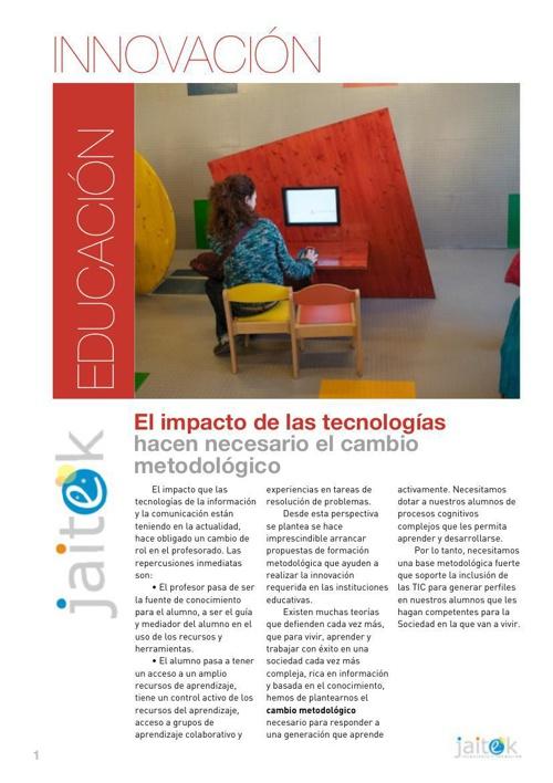 Catálogo Oferta metodológica Jaitek, Tecnología y Formación