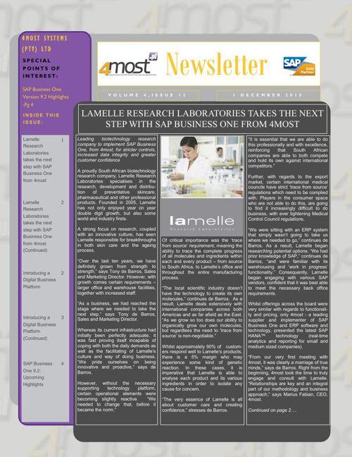 4most December 2015 Newsletter