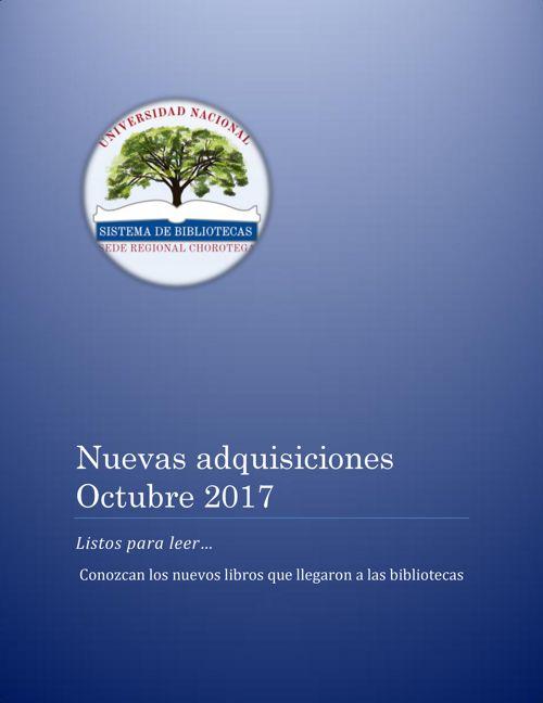 Nuevas adquisiciones octubre 2017 2do
