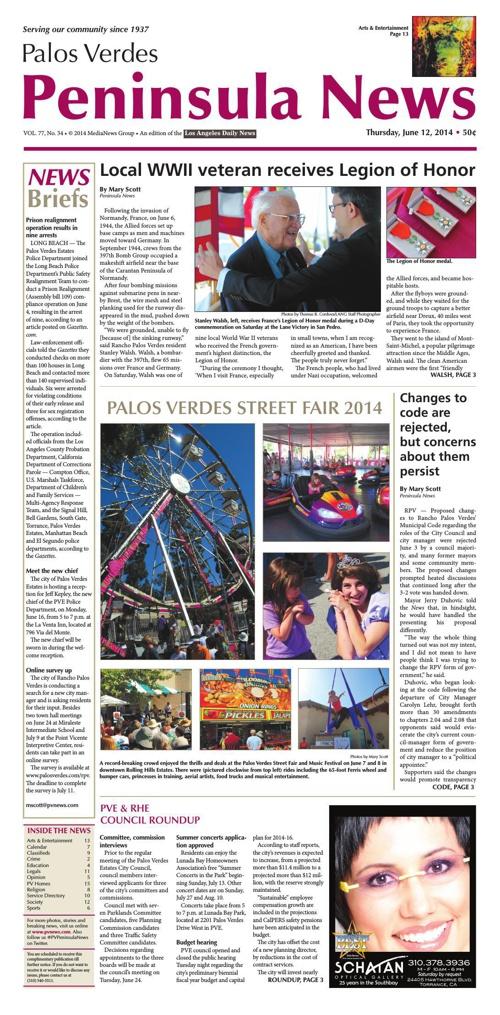 Peninsula News 6-12-14