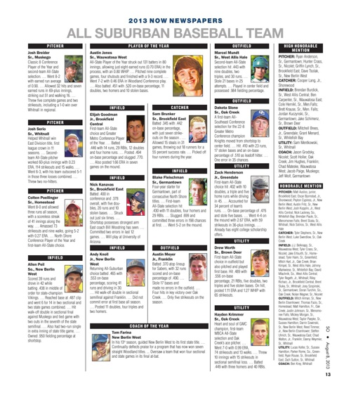 All-Suburban Baseball Teams 2007-2014