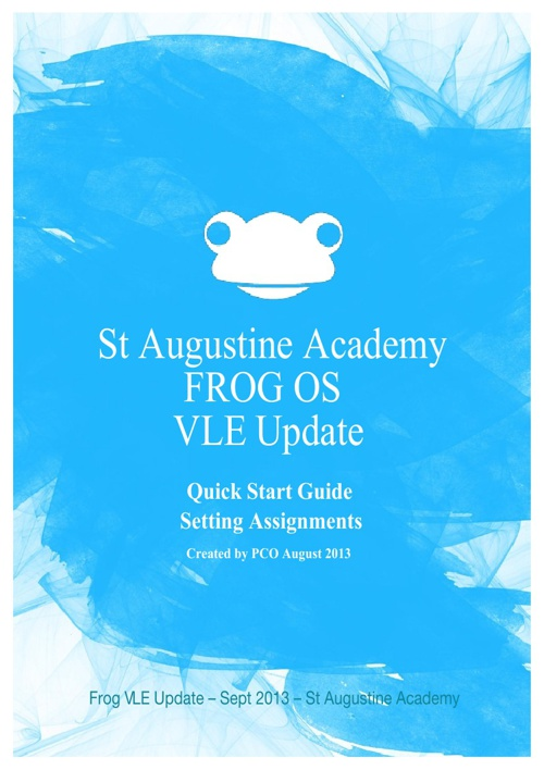 FROG OS - Teachers Guide to setting Assignments