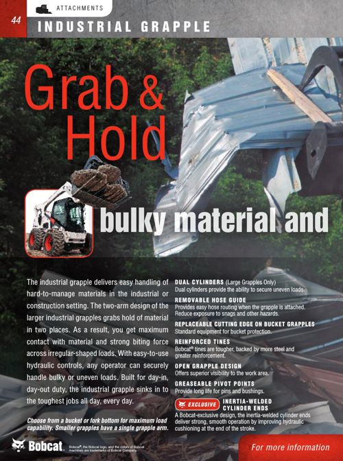 Bobcat Attachment Catalog Part 4