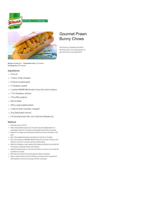 Gourmet Prawn Bunny Chows