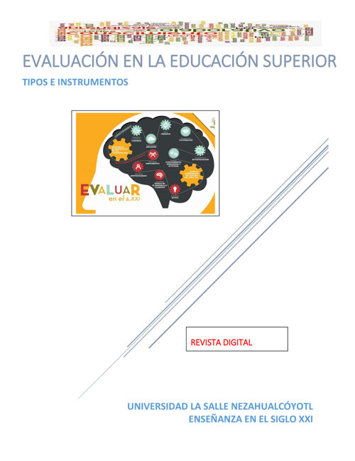 EVALUACIÓN DEL APRENDIZAJE EN LA EDUCCIÓN SUPERIOR I