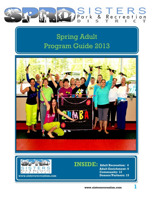 Adult Program Guide Spring 2013