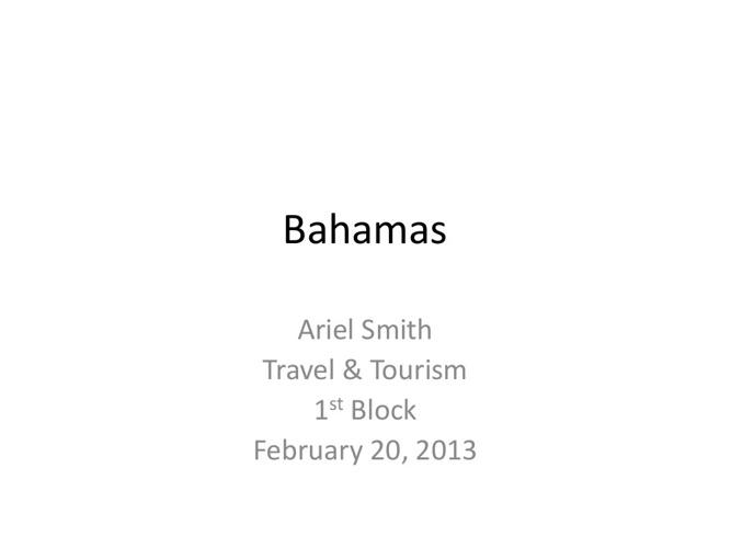 Bahamas Ariel
