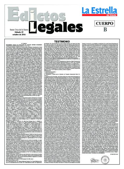 Judiciales 15 sábado - octubre 2016