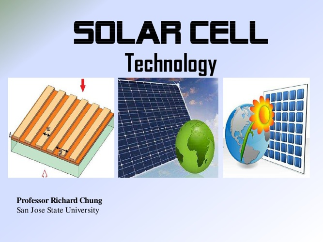 Solar Cell Technology | San Jose State University