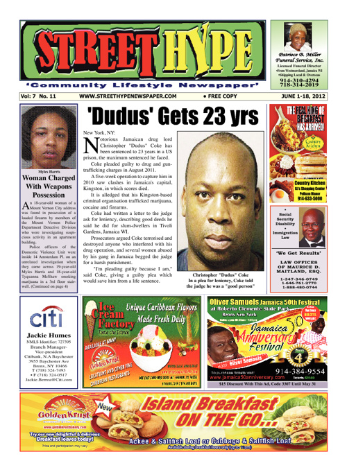 Street Hype Newspaper - June 1-18, 2012